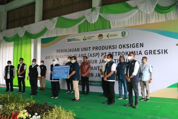 PT Garam bersama BUMN Satgas Jatim berikan Bantuan Oksigen Cair untuk Warga Jawa Timur
